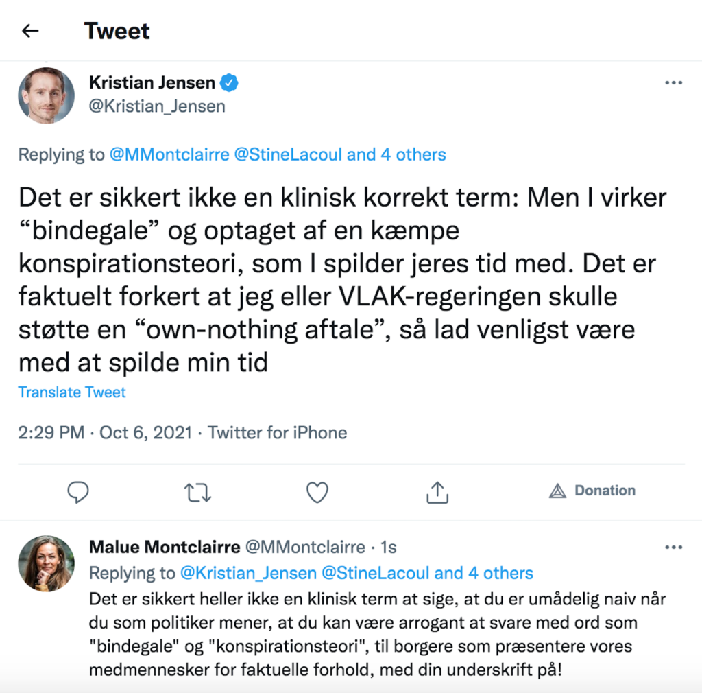 Kristian Jensen Tweet